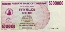 Zimbabwe 50 Million Dollars, P-57 (2.4.2008) - UNC - Zimbabwe