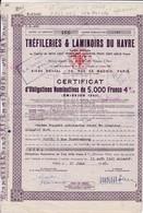 Th3LOT (3 Titres) : TREFILERIES : LE HAVRE - Certificat19432 Différentes  (40) - Actions & Titres