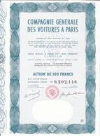 Th3LOT (2 Titres) : VOITURE : PARIS - Action De 100 Frs  (41) - Actions & Titres