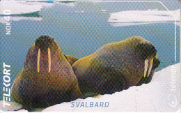 SVALBARD ISL.(chip) - Walrus(234), Tirage 11500, 02/02, Used - Svalbard