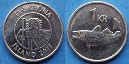 """ICELAND - 1 Krona 2011 """"cod"""" KM# 27a Republic (1944) - Edelweiss Coins - Islande"""