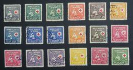 "Haiti 1945 ""RED CROSS"" 3c- 1.35F Used Selection. - Haïti"