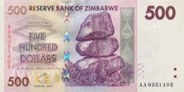 Zimbabwe 500 Dollars, P-70 (2007) - UNC - Zimbabwe