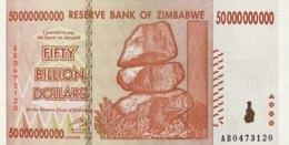 Zimbabwe 50 Billion Dollars, P-87 (2008) - UNC - Zimbabwe