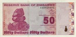 Zimbabwe 50 Dollars, P-96 (2009) - UNC - Zimbabwe