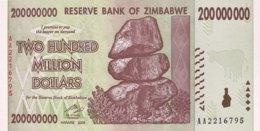 Zimbabwe 200 Million Dollars, P-81 (2008) - UNC - Zimbabwe