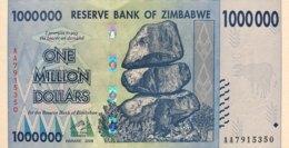 Zimbabwe 1 Million Dollars, P-77 (2008) - UNC - Zimbabwe