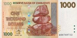 Zimbabwe 1.000 Dollars, P-71 (2007) - UNC - Zimbabwe