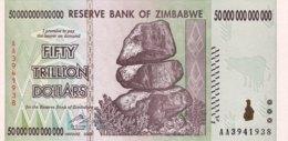 Zimbabwe 50 Trillion Dollars, P-90 (2008) - UNC - Simbabwe