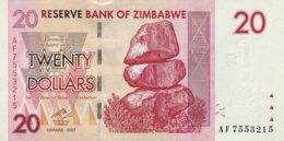 Zimbabwe 20 Dollars, P-68 (2007) - UNC - Zimbabwe