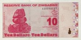 Zimbabwe 10 Dollars, P-94 (2009) - UNC - Zimbabwe