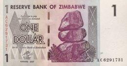 Zimbabwe 1 Dollar, P-65 (2007) - UNC - Simbabwe