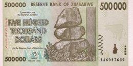Zimbabwe 500.000 Dollars, P-76 (2008) - UNC - Zimbabwe