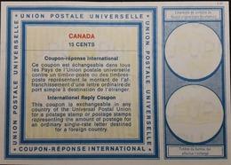 Canada-International Reply Coupon 15cents - U.P.U.