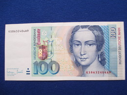 100 Deutsche Mark 1996, Original - [ 7] 1949-… : RFA - Rep. Fed. Tedesca