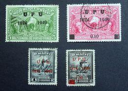 "Haiti 1950 ""THE 75TH ANNIVERSARY OF UPU"" Overprint Used Selection. - Haïti"