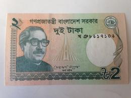 Billete Bangladesh. 2 Taka. 2012. Pájaro. Sin Circular - Bangladesh
