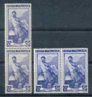 D - [200284]Italie 1950, N° 572, 50c Bleu, Forgeron, Paires En 2 TB Nuances, **/mnh - 1946-.. République