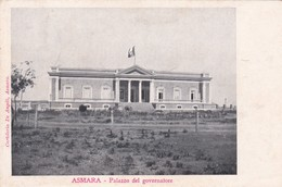 ERITREA. ASMARA. PALAZZO DEL GOVERNATORE. CARTOLERIA DE ANGELI. CIRCULEE A ROMA CIRCA 1910s-RARE-BLEUP - Afrika