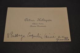 Carte De Albert Héléquin Officier Radio Marine Marchande Le Havre 1930 Transatlantique Probable - Cartoncini Da Visita