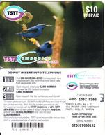 TRINIDAD & TOBAGO - Birds(glossy Surface), TSTT Prepaid Card $10, CN : B 001, Used - Trinité & Tobago