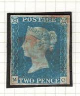 Very Light Canceled TWO PENCE  Avec Oblitération Très Légère - 1840-1901 (Victoria)