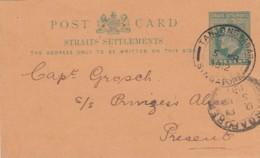 Malasia Straight Settlements Privat Postcard 1912 - Malaysia (1964-...)