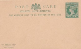 Malasia Straight Settlements Postcard + Reply 1895 - Malaysia (1964-...)