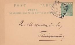Malasia Peraks Postcard 1897 - Malaysia (1964-...)