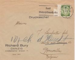 Deutsches Reich Danzig Brief 1937 - Dantzig