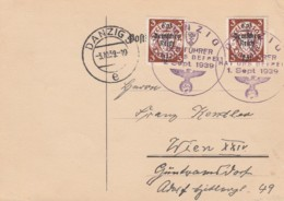 Deutsches Reich Danzig Postkarte 1939 Den Fuhrer Hat Uns Befreit - Dantzig