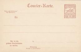 Deutsches Reich Courierkarte 1895 - Germania