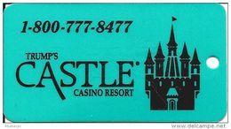 Trump Castle Casino Atlantic City, NJ - Key Ring Dangle (Flourscent GREEN) - Cartes De Casino