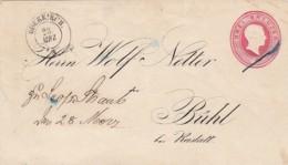 AD Baden Umschlag U6IIA 1862 - Baden