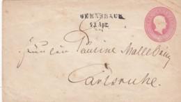 AD Baden Umschlag U9IIA 1867 Gernsbach - Baden
