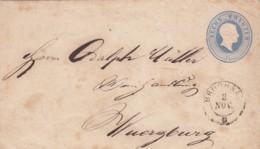 AD Baden Umschlag U7IIA 1867 - Baden