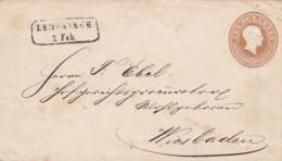 AD Baden Umschlag Privat Ruckseite U11A 1866 - Baden