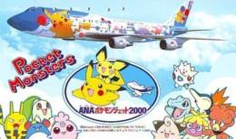 POKEMON * TELECARTE JAPON * Comics * NINTENDO (272) ANA AIRPLANE MANGA * ANIME * PHONECARD JAPAN * MOVIE * FILM * CINEMA - Comics