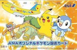 POKEMON * TELECARTE JAPON * Comics * NINTENDO (273) ANA AIRPLANE MANGA * ANIME * PHONECARD JAPAN * MOVIE * FILM * CINEMA - BD