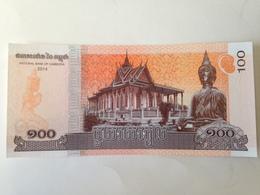 Billete Camboya. 100 Riels. 2014. Sin Circular - Cambodia