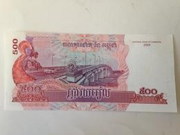 Billete Camboya. 500 Riels. 2004. Sin Circular - Cambodia