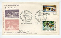 SOBRE OBLITERES PLASTICA ARGENTINA ERNESTO DE LA CARCOVA 1979 BUENOS AIRES  ARGENTINA FDC  DIA DE EMISION -LILHU - Arte