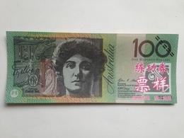 Billete Australia. 100 Dólares. Soprano Nellie Melba. Réplica. Sin Circular - Australia