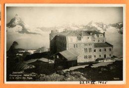 L092, Zermatt, Gornergrat, Hôtel Kulm, Chaîne Des Alpes, 10000, Circulée 1925 Sous Enveloppe - VS Valais