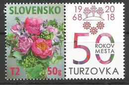 SK 2018-663 Floral Motif SLOVAKIA, 1 X 1v, MNH - Slowakische Republik