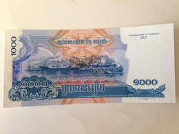 Billete Camboya. 1.000 Riels. 2007. Sin Circular - Cambodia