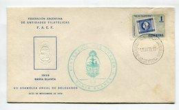 SOBRE FAEF 1959 BAHIA BLANCA OBLITERES CENTENARIO DEL CORREO EN BAHIA BLANCA ARGENTINA SPC -LILHU - Post