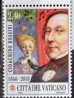 2018 Vatican - 150 Years Of G. Rossini Death - Composer - Wilhelm Teil Ouvertoure Apple And Arrow -MNH** (ro) - Musik