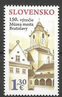 SK 2018-667 150th Anniversary Of The Establishment Of The Bratislava City Museum  SLOVAKIA, 1 X 1V, MNH - Slowakische Republik