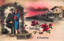 Un Baiser D' Assche   Stoomtrein Locomotief Asse  Herve   I 4633 - Herve